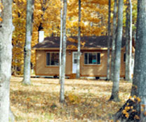 Cottage Exterior pictue of Porcupine Lake Cottage - A Rental in Gaylord, Michigan on 40 acres is available for hunters, snowmobilers, weekend getaways, summer camping, and family vacations. The cozy and clean cottage is available to rent for the weekend, entire week, or monthly rates are available too! Call Brian or Donna Clark at (989) 614-0248